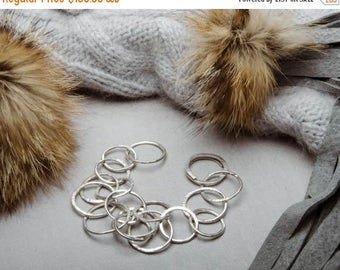 SPRING SALE 25% OFF Infinity Circles Sterling Silver Jewelry Handmade Bracelet Fashion For Women