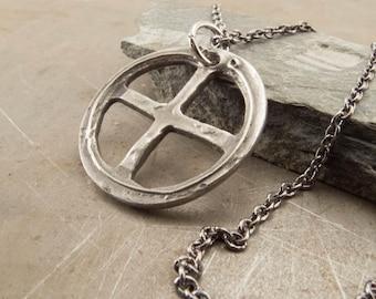 Celtic Cross Sterling Silver Pendant Necklace Handmade Jewelry for Men or Women