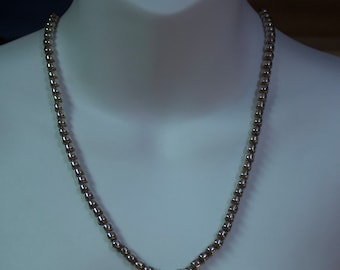 Taxco, Mexico Handmade Sterling Bead Necklace, Taxco TD-29