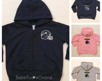 Seattle Seahawks Zip Up Fleece Hoodie - Baby and Toddler Sizes