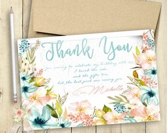 She's a Wild One Thank You Card | She's a Wild One Invitation | First Birthday Party | Customized Invitation | PRINTABLE | Matching