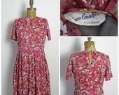 on sale 1950s Floral Dress by Sy Frankl
