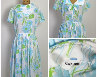 1950s Stacy Ames Floral Dress