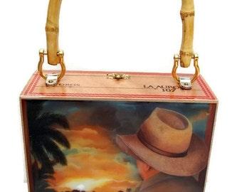 ON SALE . Handbag.  Exclusive Cigar Box Purse w/ Bamboo Handle  . Five Handbags to Choose