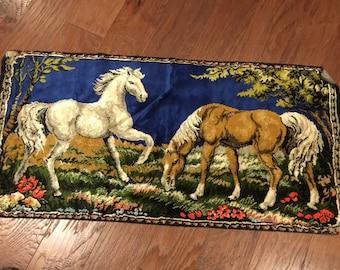 Velvet Rug Wild horses tapestry