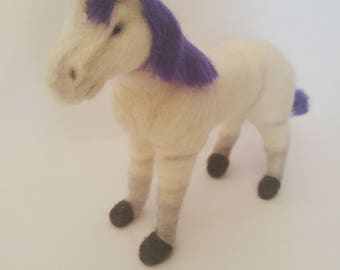 Unicorn needle felted sculpture