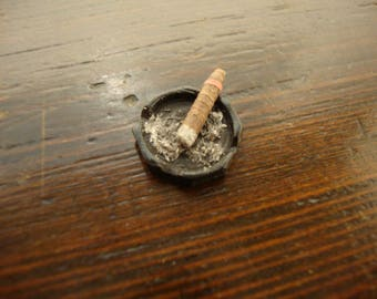 miniature for dollhouse ashtray with cigar