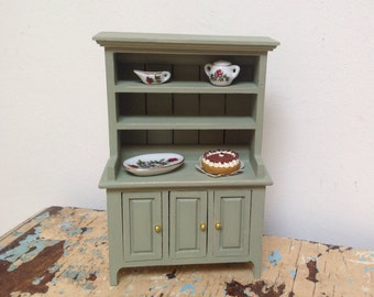 Dollhouse miniature kitchen cabinet,