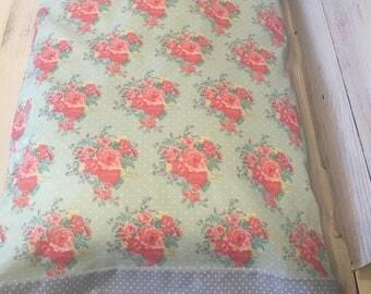 Shabby chic pillow case/ shabby chic pillowcase/ cottage pillowcases/ shabby Rose pillowcases/ Standard size 20 x 30 pillowcases
