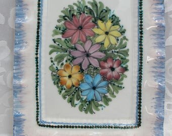 F. Gabrielli Roma - Porcelain Tray - Wall Hanging - Floral Decor