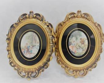 Ornate Frames - Gold rococo plastic picture frames - Lancret