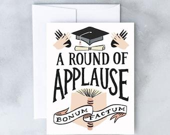 Round of Applause Graduation Greeting Card