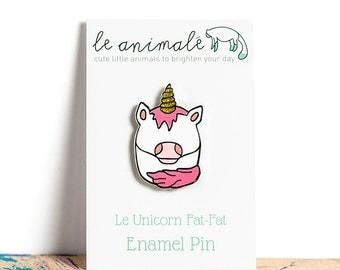 Unicorn Pin Enamel Pins Cute Kawaii Animals Quirky Fantasy Pink