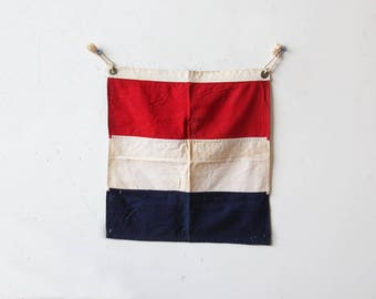 Red White & Blue Cloth Nautical Flag