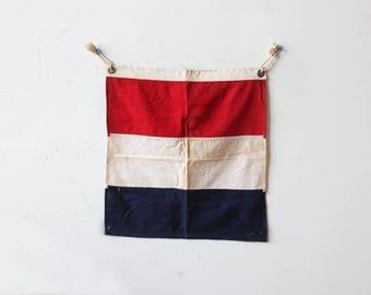 Red White & Blue Cloth Nautical Flag