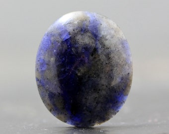 Blue Sapphire Gemstone Cabochon for Jewelry Tutorials & Lessons, Wire Wrapping and Bezel Setting (CA6588)