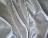 """SILVER Pebbled Metallic 8""""X10"""" SOFT cowhide - shows the grain - Leather 3-3.25 oz / 1.2-1.3 mm PeggySueAlso™ E4100-03 Full hides available"""