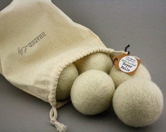 Non toxic natural wool dryer balls instead of dryer sheets, organic wool laundry ball alternative to dryer sheets, wool balls for dryer