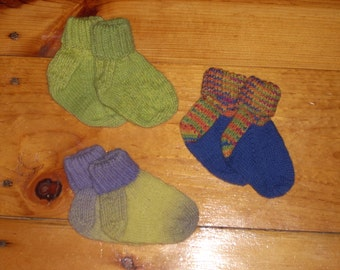 "Wool Baby Socks - 4"" Foot Your Choice"