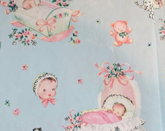 Baby Blue craft wrapping or scrapbook paper