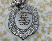 I'll Love you Forever, I'll Like you for Always Necklace, Mother Gift, Gift for Mom, Literary Necklace, Robert Munsch Necklace, Gift for her