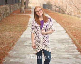 Crochet Pattern: Open Front Kimono Sweater