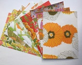 1960s and 1970s Outrageous Orange Vintage Wallpaper- 10 sheets 8.5x11.5""