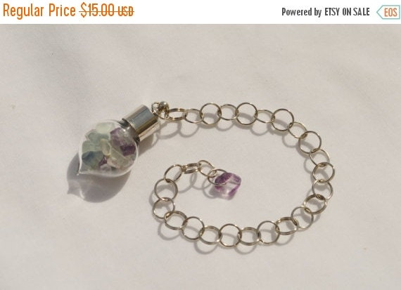 Cyber Monday Sale Rainbow Fluorite Pendulum - Stone to Help Open and Re-energize Spiritual and Mental Pathways, Rids Negative Energy, 3rd Ey