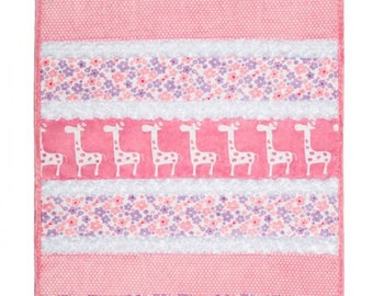 "KIT - Bambino Cuddle Kit SUGAR & SPICE from Shannon Fabrics - Kit includes 5 pre-cut strips, pattern, backing, and binding (28""x37"")"