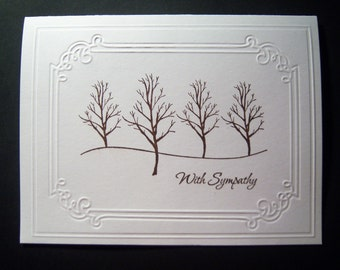 Bare Trees Sympathy Card