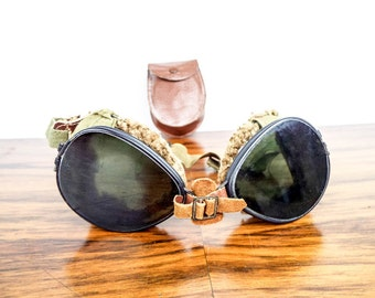 Vintage WWII Military Division US Army FGCO  Goggles, One of a Kind Gift Ideas for Soldier, Birthday Present for Him, Cool Eyewear Glasses