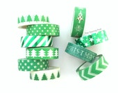 Washi Tape Set: Christmas Greens