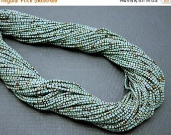10% off Halloween SALE Turquoise Beads - Turquoise Tiny 1mm Heishi Beads-- 1 Full STRAND (S34B7-06)