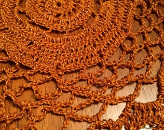 Copper Light Doily