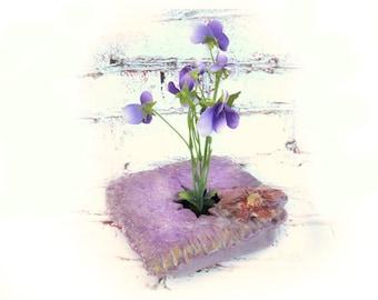 ikebana vase - ikebana pottery - Japanese flower vase -pottery flower vase -  ceramic ikebana -- hostess gift - # 79