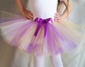 Purple, Yellow, and White Tutu, Sports Tutu, Girls sizes 6-14