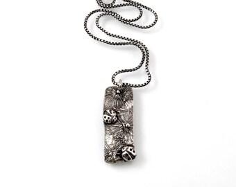 """Sterling Silver, Necklace, 18"""", Ladybug, Ladybug Necklace, Silver Ladybug, Ladybug Lover, Ladybug Jewelry, Silver Ladybug, Ladybugs, 1235a"""