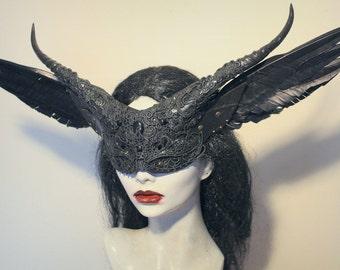 Veiled Dark Angel mask