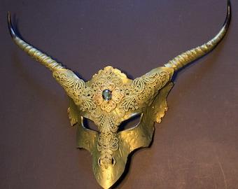 Womans Green Dragon mask