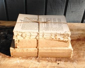 Distressed Book Set - Vintage Book Collection - No cover books