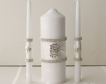 Wedding Unity Candle, Bling Unity Candle, Candles for Wedding- Custom Order