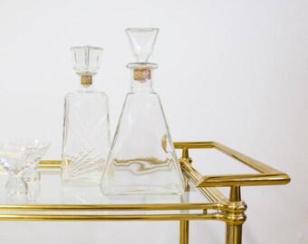 Mid Century Decanter, Clear Glass, Vintage Barware / Drinkware