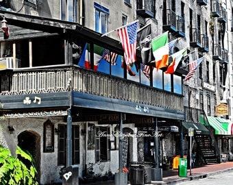 Savannah Photography, Georgia, Old South, Southern, Irish Pub Print, Bar Photography, Food, Travel, River Street, Southern Decor, Historic