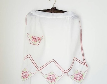 SALE Vintage Sheer Half Hostess Handkerchief Apron