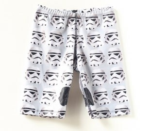 Boys Blue  Swimming trunks, swim shorts featuring a star wars pattern