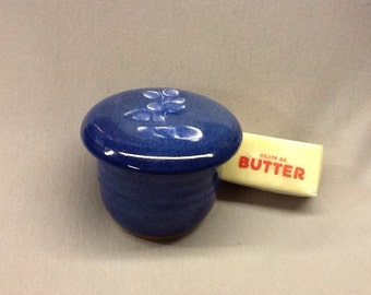 French butter keeper. Bluebell glaze.