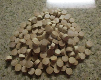 """Vintage Natural Wood (Oak/Maple?) Plugs - 100 1/2"""" Pieces"""