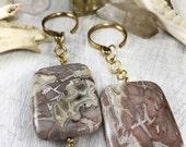 Jasper ear weights, stone ear weights, stone plugs, brass ear weights, wedding plugs, wedding gauges, gauges, plugs