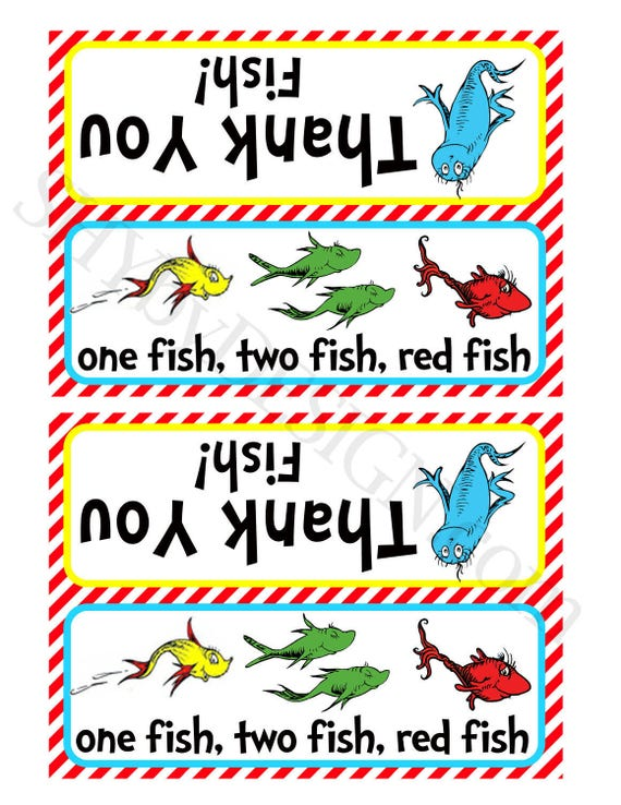 Printable Thank You Fish Baggie Toppers