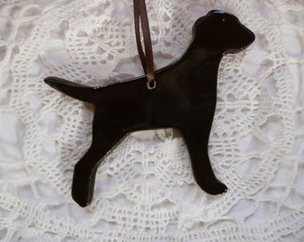 Handmade Ceramic Ornaments - Chocolate Labrador Retriever